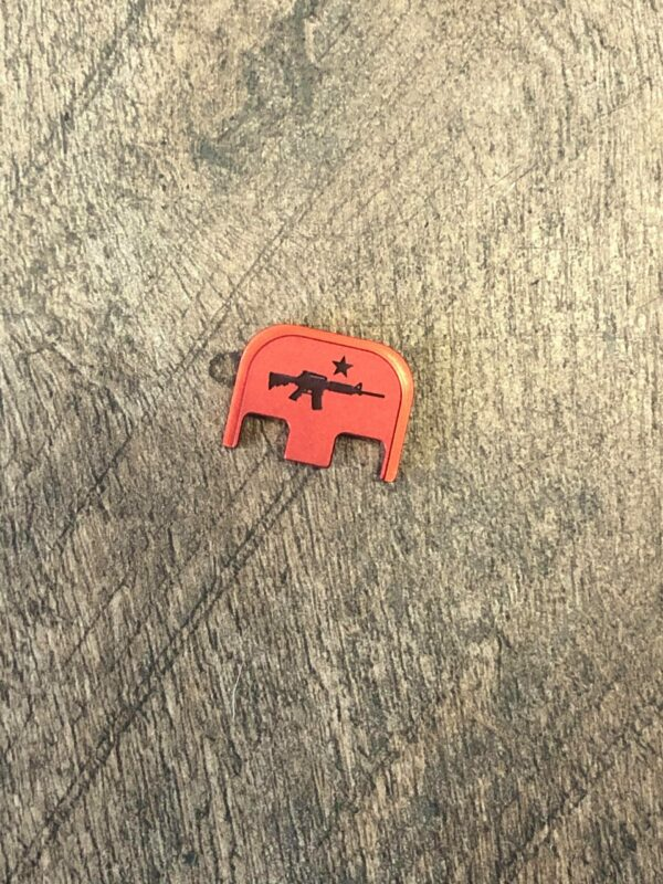 Patriotic Glock back plate- Come and Take it - Red